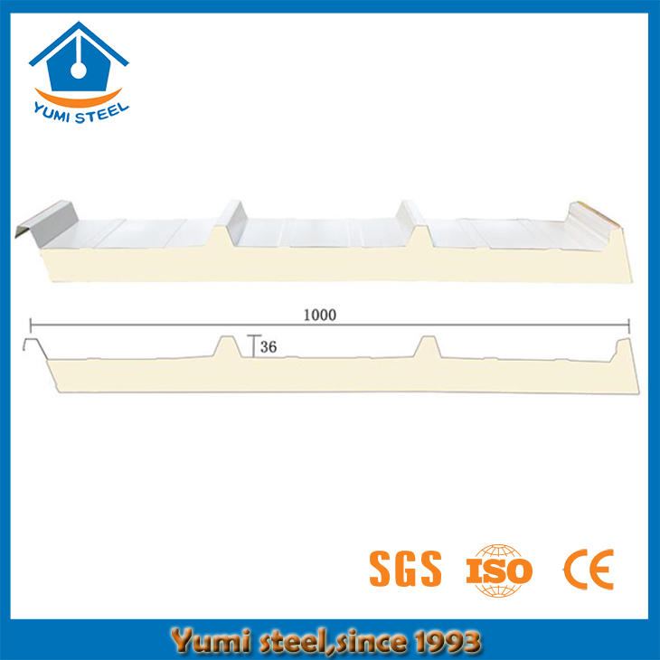 40mm Insulated Roof PIR/PUR/PU Sandwich Panels
