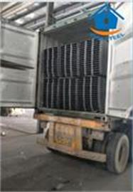 Bondek packing with steel strips and loading
