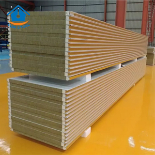 75mm Heat Thermal Fireproof PU Sealing End Rockwool Sandwich Wall Panel