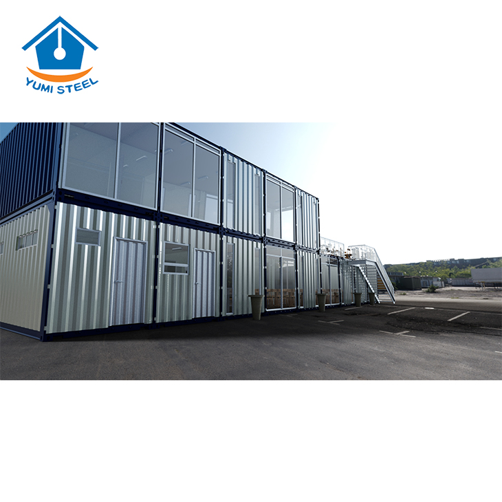 Metal Steel Frame Prefab Container House for Living/Office Building