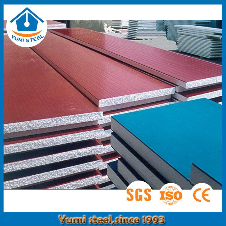 50/70/100/150/200 Thickness EPS Sandwich Panel With Color Steel Sheet