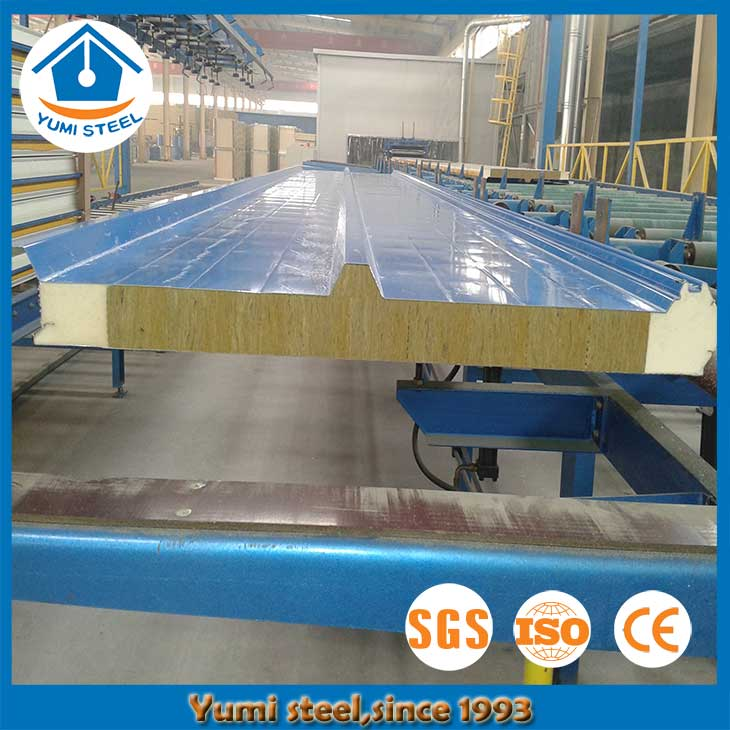 50mm Structural PIR/PUR Sealing Rockwool Roof Sandwich Panels